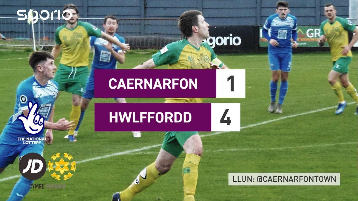 Image for the Tweet beginning: Uchafbwyntiau | Highlights  @CaernarfonTown 1-4 @HaverfordwestFC