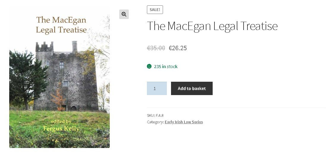 test Twitter Media - #BooksofDIAS:  The MacEgan Legal Treatise (2020) edited by Fergus Kelly  This Treatise is of special importance as it provides a professional lawyer's account of Irish 'Brehon' law in the period after the Anglo-Norman invasion of 1169. See more: https://t.co/vxkqlpv2yY  #DBF2020 https://t.co/rXRsOQWAWa