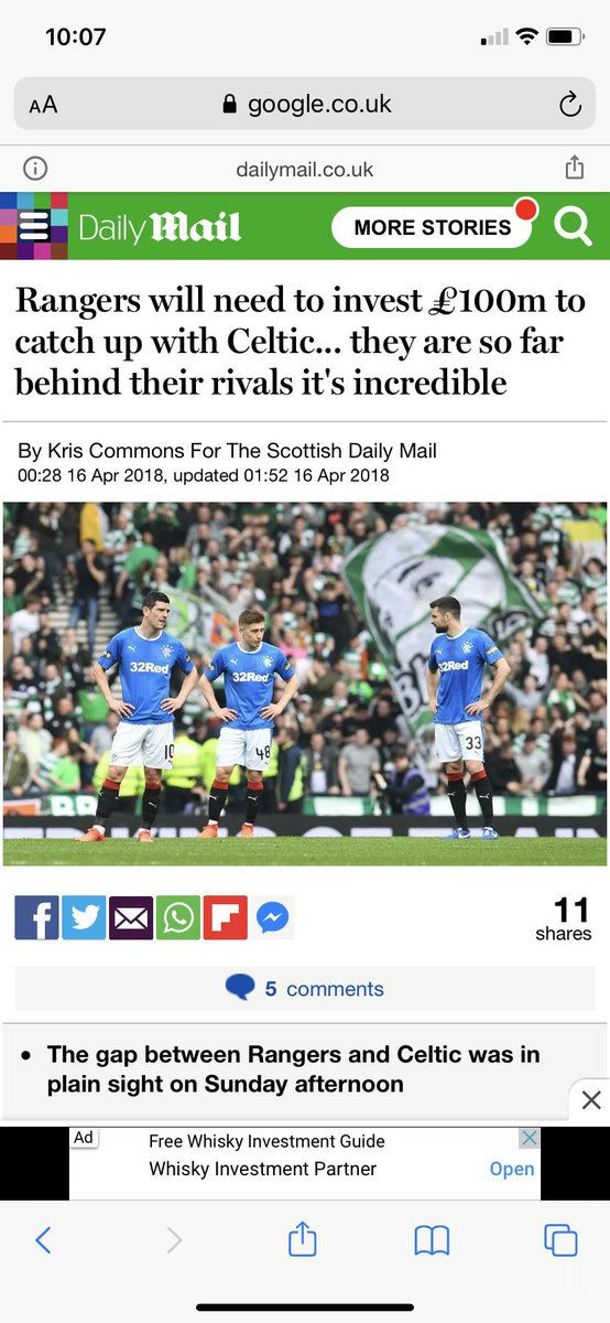 How it started vs how it's going  #rfc #rangers #oldfirm #spfl #timplosion https://t.co/pvlEavA4B2