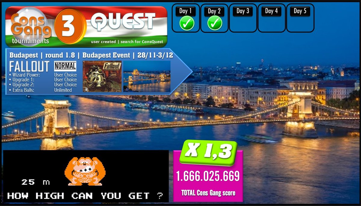 QUEST TOURNAMENT | Budapest | round 1.8 | Final Destination event | FALLOUT | 28/11-3/12 | day 2/5  CONS GANG | user created | search for ConsQuest #ConsGang #PinballFX3 #NintendoSwitch #XboxOne #Steam https://t.co/MqinBK3zRC https://t.co/T37HLR7Bt4