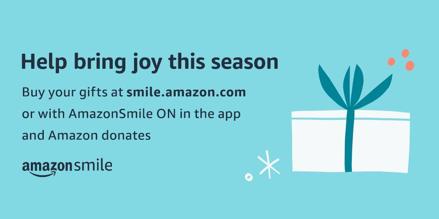Shopping online for holiday deals today? Did you know that can support us with a simple click while shopping on Amazon? Now it's easier than ever to give back to your community! #amazonsmile #CyberMonday