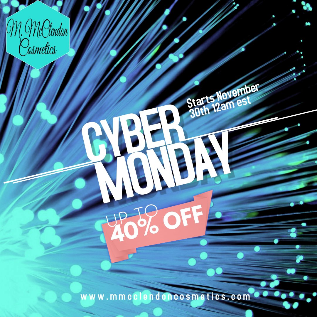 Liked our #BlackFridayDeals ? You're gonna love what we have for you this #CyberMonday ! 40% off everything, grab some stocking stuffers while they're still in stock. #comment #beautiful #Beauty #businessmemes