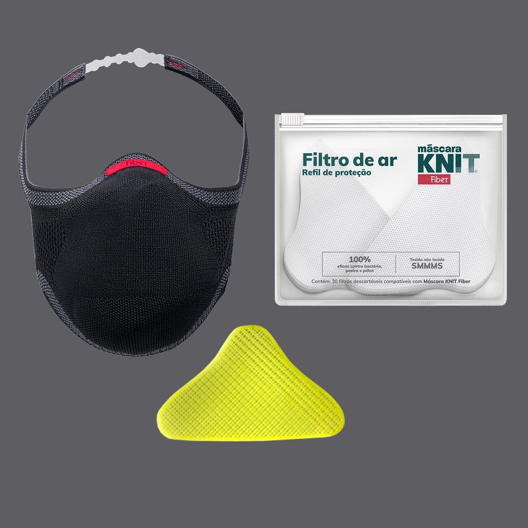 Aproveite a liberdade de respirarem segurança com a sua melhor companheira: Máscara KNIT Fiber. Potencialize a sua respirabilidade com o suporte de filtro, que é incluso no kit essencial Máscara KNIT Fiber.    Adquira o seu em .    *publicidade
