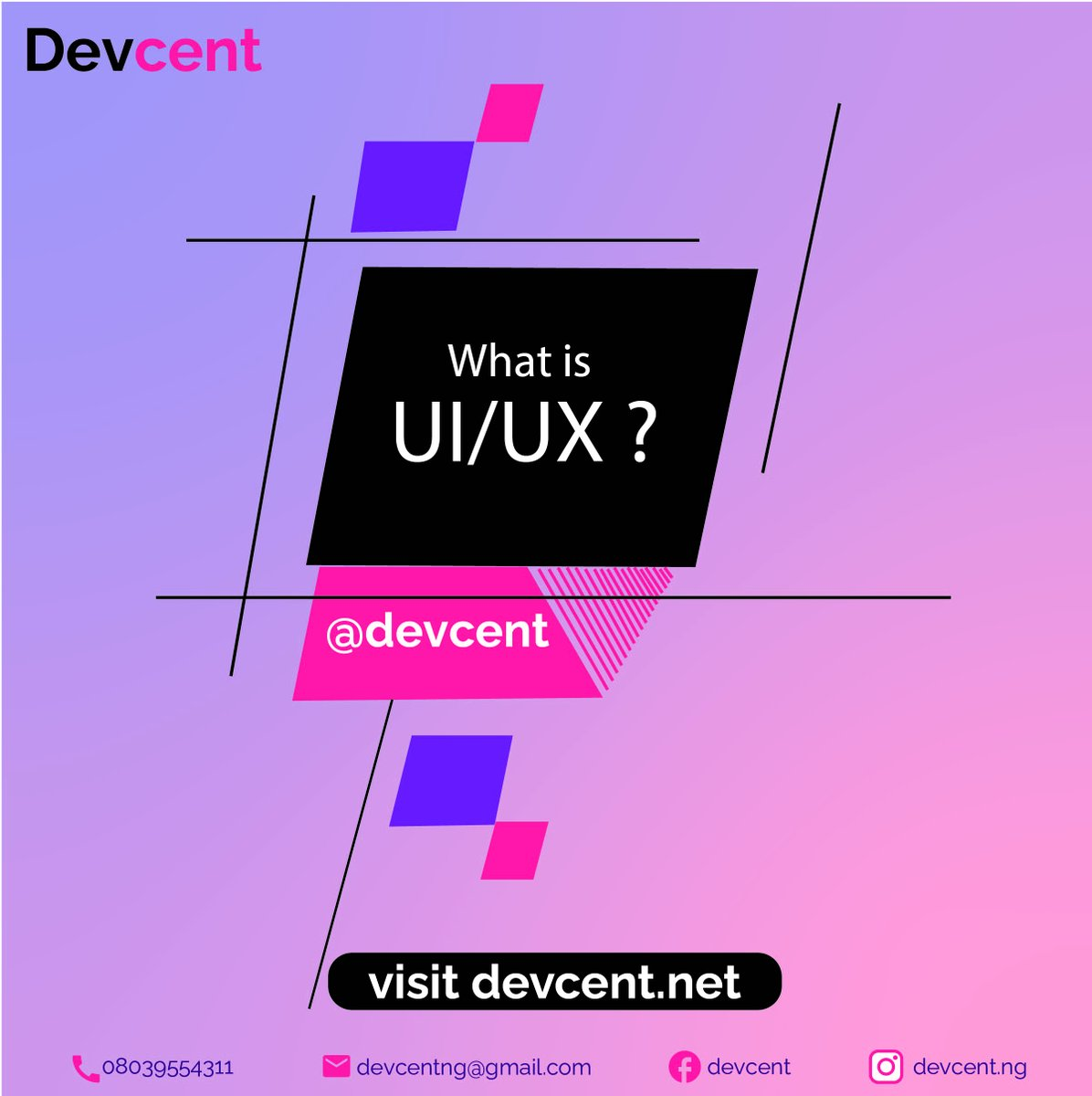 What decision are you making this new week? Ever thought of learning a digital skill like UI/UX? Well, here is what you need to know about it. #learnwithdevcent #MondayMotivation  #tech  #skills