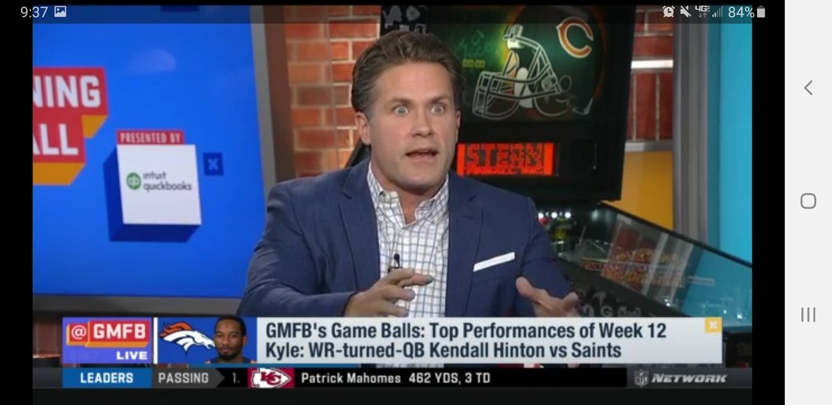 @KyleBrandt giving utmost #Respect to Hinton on well deserved effort for #Broncos #GMFB
