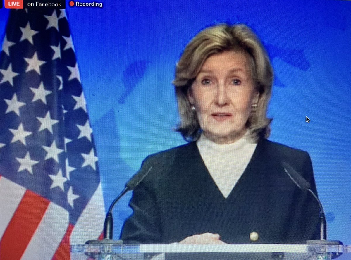 JUST IN: US Amb. to NATO Kay Bailey Hutchinson makes clear this is her Last Ministerial meeting & that a smooth transition will happen to a Biden admin. Stresses concerns around Russia, China & Turkey roles https://t.co/TZk63lBoUh