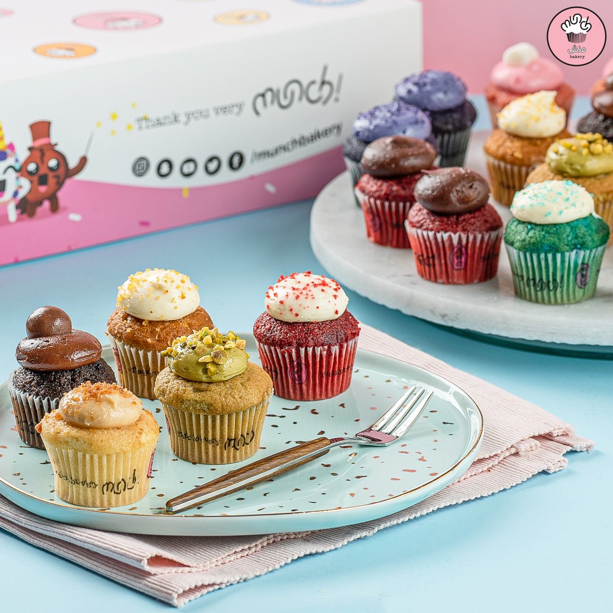 Munch Bakery On Twitter كانت بدايات منش في صنع السعادة الكب كيك خبرونا ايش نكهة الكب كيك المفضلة عندكم Mini Cupcakes Were The First Product At Munch Bakery What S