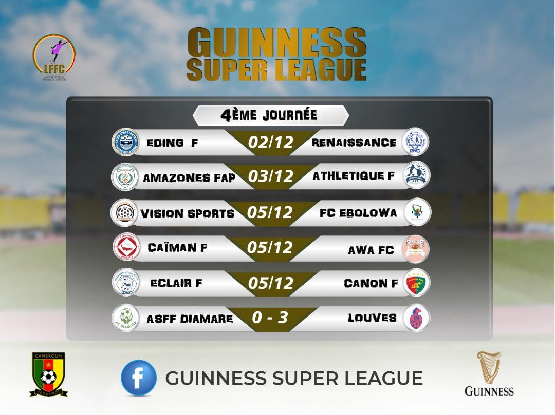 #GuinnessSuperLeague  Programme de la 4ème journée.