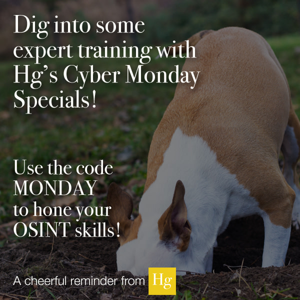 Hetherington Group On Twitter It S Time To Dig Into Some Expert Training With The Team At Hg We Ve Got Cybermonday Deals That Are Sure To Prepare You For The Coming Year Osint Missing dig aoe keybind #1238. twitter
