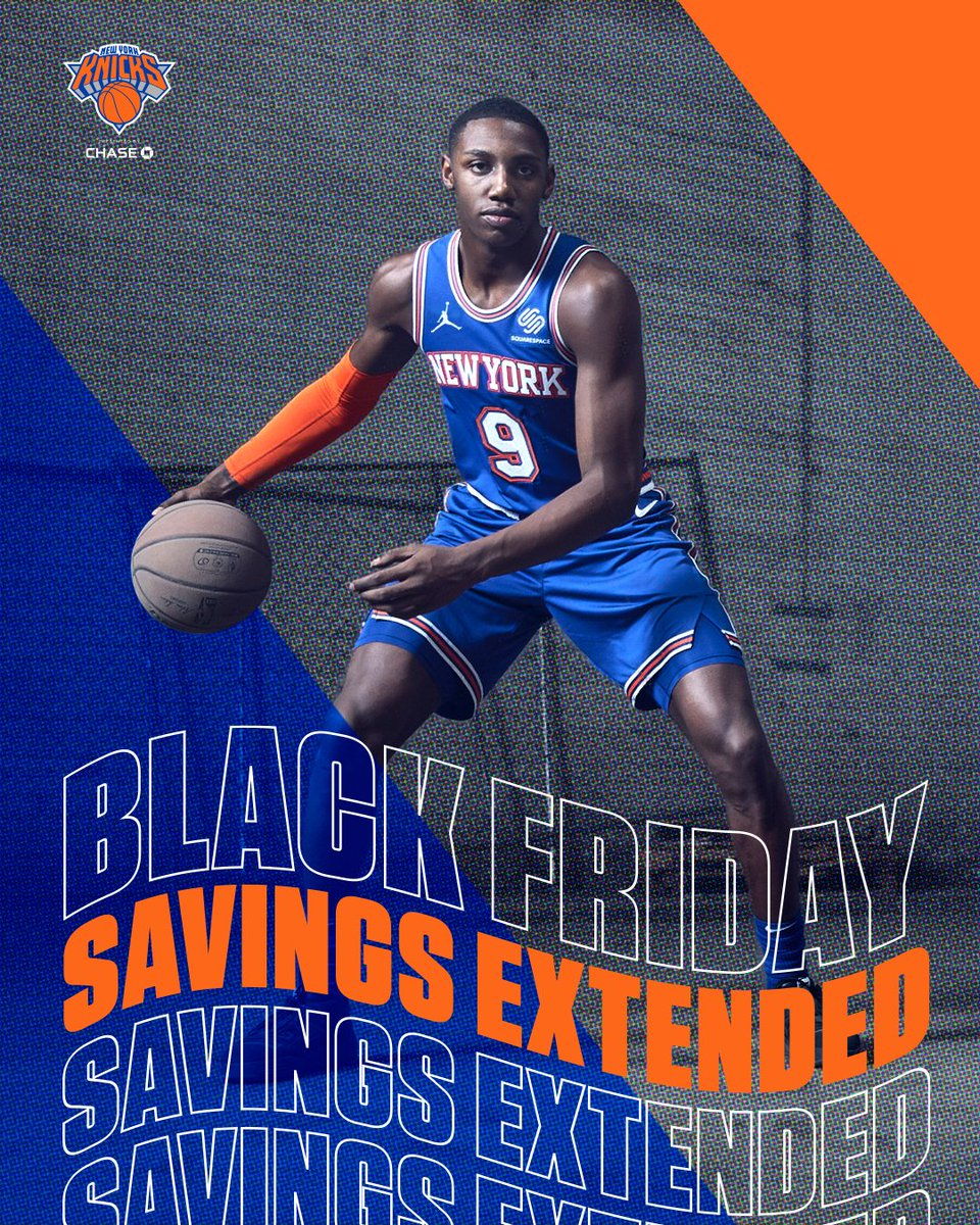 Today is your last chance to get up to 30% OFF Knicks gear!  Use the code: BLACKFRIDAY30 | 💻: https://t.co/ikUXaRYR3R  𝐎𝐟𝐟𝐞𝐫 𝐯𝐚𝐥𝐢𝐝 𝐭𝐡𝐫𝐨𝐮𝐠𝐡 𝟏𝟏/𝟑𝟎/𝟐𝟎𝟐𝟎 𝐚𝐭 𝟏𝟏:𝟓𝟗 𝐏𝐌 𝐄𝐓. 𝐓𝐞𝐫𝐦𝐬 𝐚𝐩𝐩𝐥𝐲. https://t.co/AZrTxQBSuB