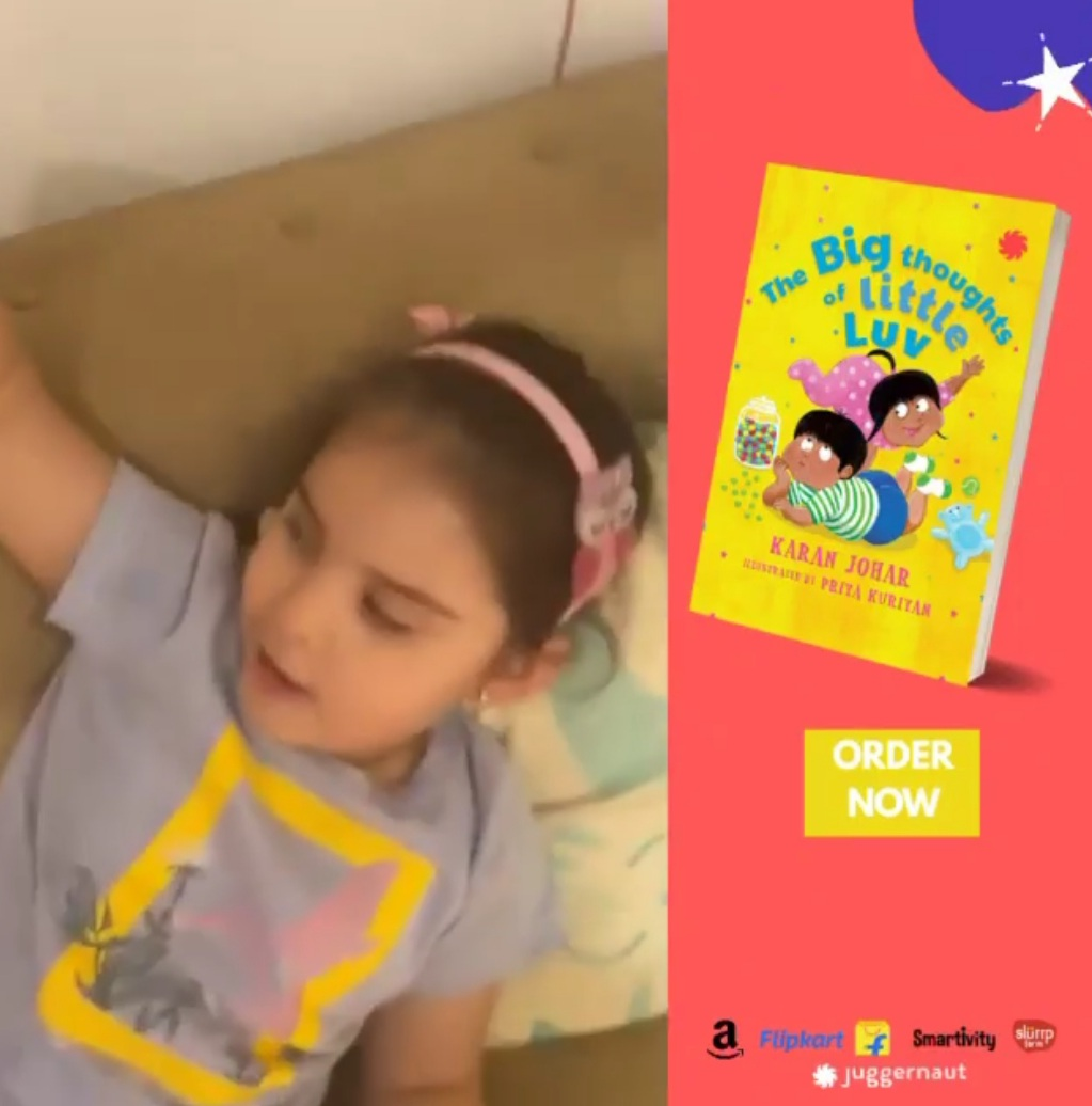 Karan took to social media to share a pic of his new book. 'Super super excited to share my new children's book#TheBigThoughtsOfLittleLuvwith u all! Join us from the comfort of your homes for the online release on 4th December!,'he said