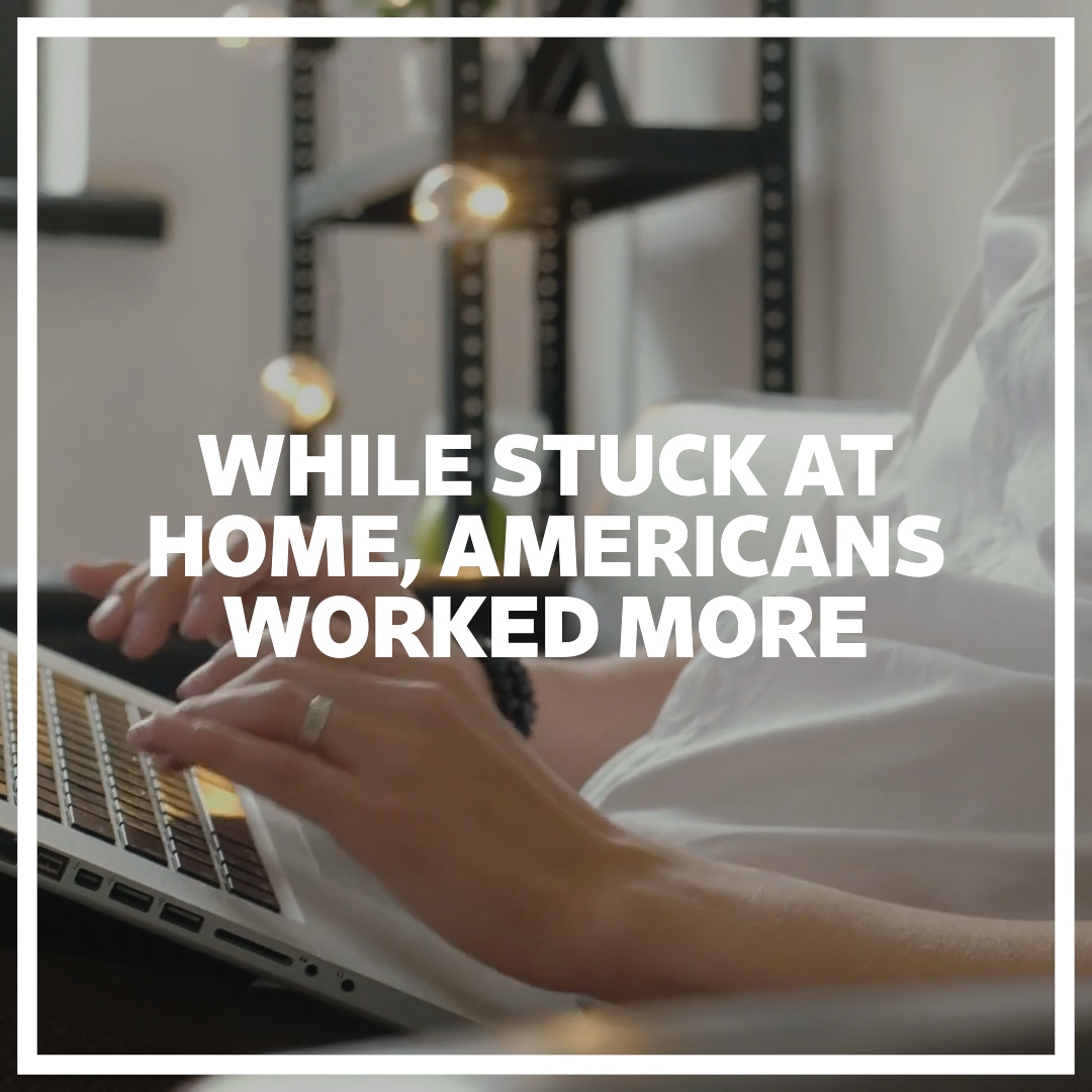 How did Americans, working from home in response to the coronavirus, spend the extra time they regained from not commuting? They worked more #WSJWhatsNow