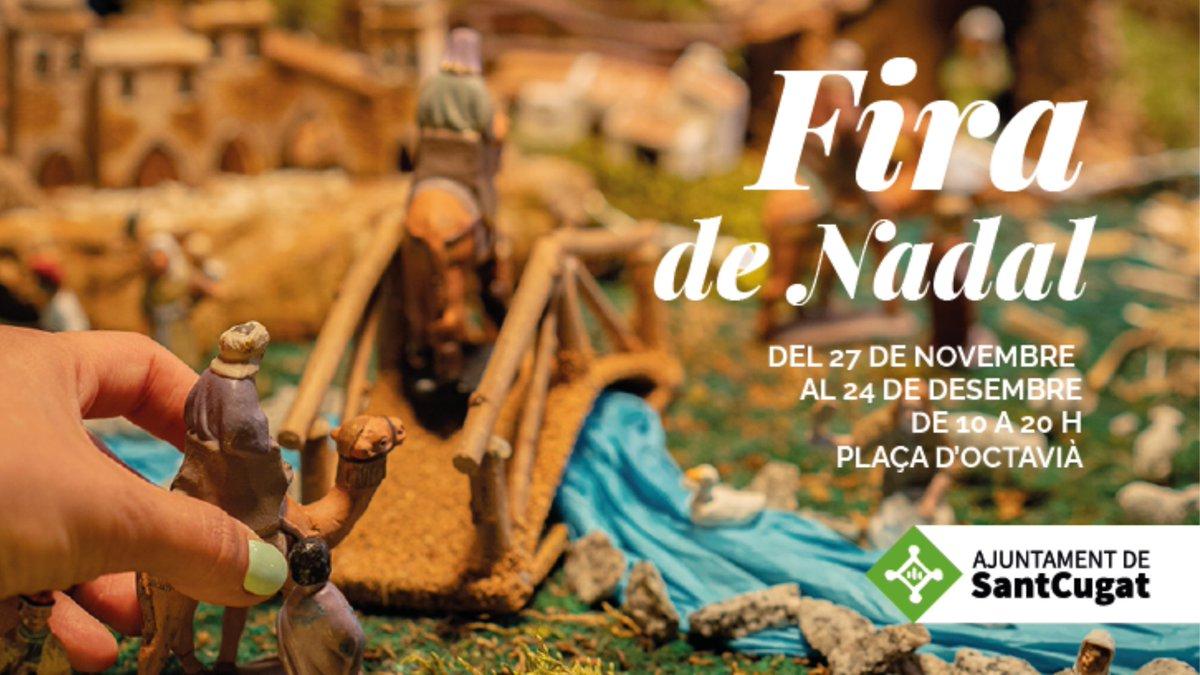 🎁 Vols comprar un Tió, un caganer, un arbret o una peça d'artesania?   🎄Visita la Fira de Nadal #SantCugat fins al 24/12   🚩pl. d'Octavià ⏰de 10 a 20 h (dijous matí tancat)  🎷Actuacions musicals a la caseta de @lapuamusical  ℹ️https://t.co/E6o8ftlKZA  @nadalstc #nadalstc