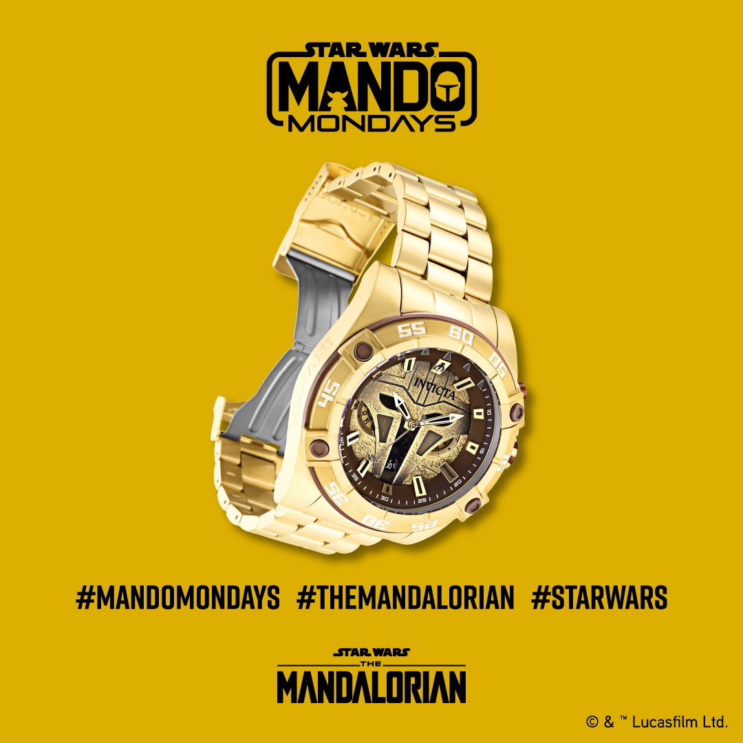 Coming soon! Mando Mondays featuring Invicta watches specifically designed based on The Mandalorian! 🤩