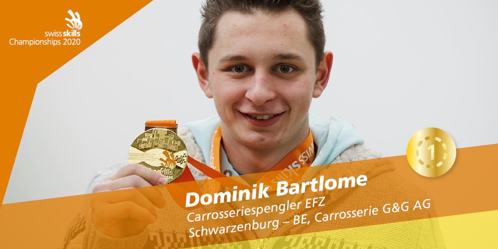 Herzliche Gratulation Dominik Bartlome und unserem Mitglied Carrosserie G&G AG zum Schweizermeistertitel Carrosseriespengler/in EFZ 🥇