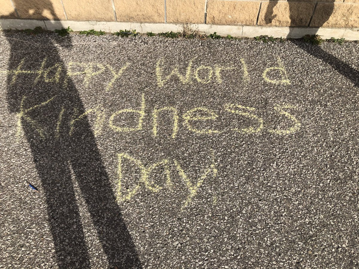 We celebrated the nice (early November) weather and #WorldKindnessDay for a whole week! Students were so excited to share their messages and get to work with chalk outside 🌞