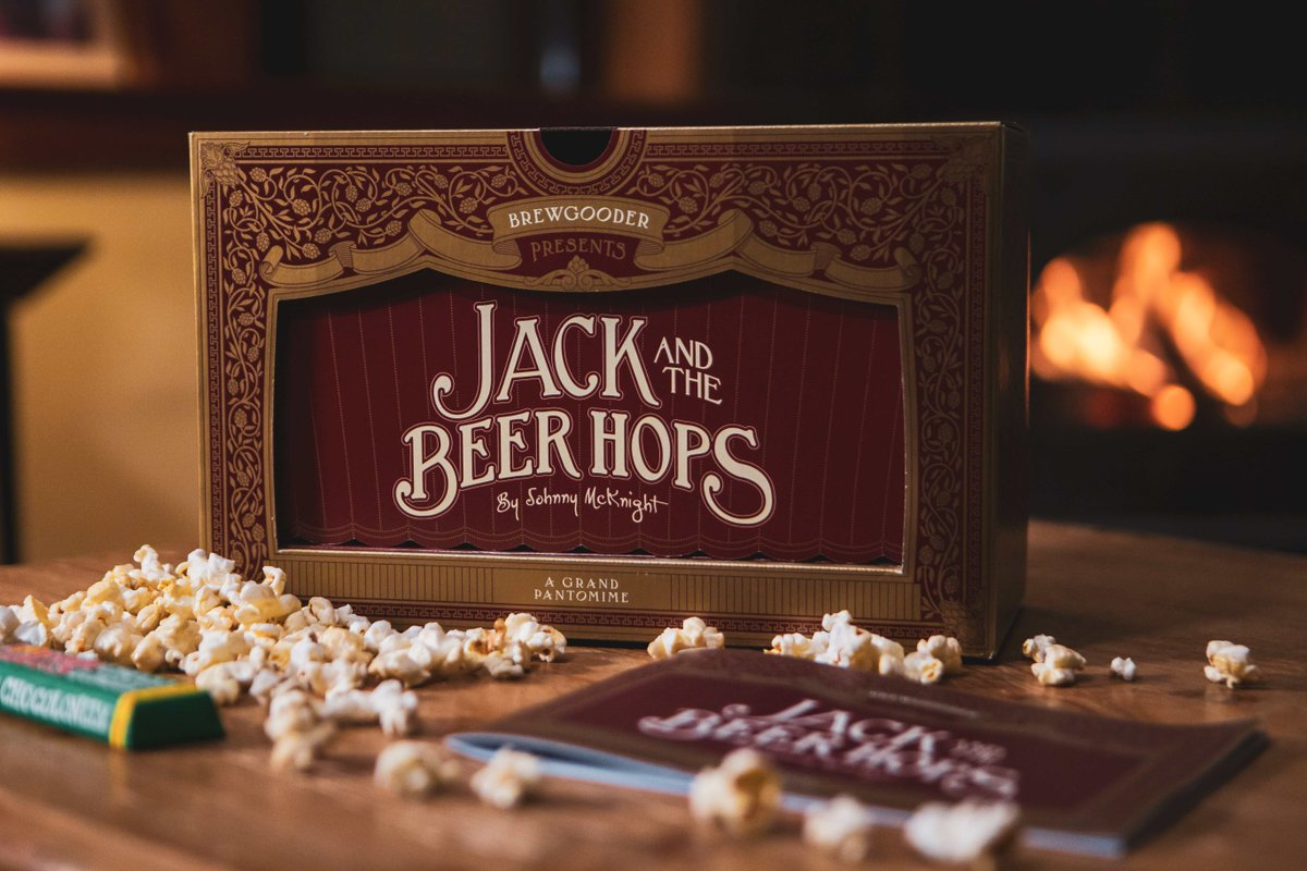 Don't forget to purchase your @BrewGoodr Panto In A Box!   Four beers from us, @mondobrewing, @GipsyHillBrew & @pactcoffee with theatre snacks from @TonysChocoUK_IE & @lovepopcornUK  Proceeds from every pack will be donated to the Theatre Artists Fund.  https://t.co/v5AGacCURo https://t.co/Gru6B3wcBJ
