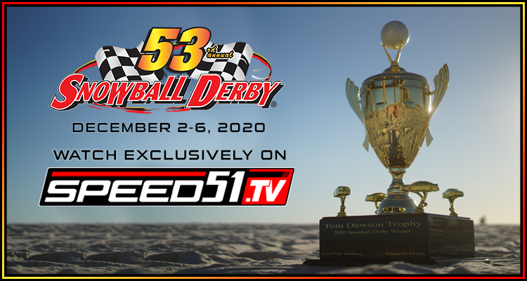 Congratulations to @davidinmo, @ByDavePhillips and @Bubbacrabs! You've been selected to watch the #SnowballDerby courtesy of @speed51dotcom this weekend! Send us a DM and we will send you your code.  Stay tuned for another special offer to watch this weekend's race!
