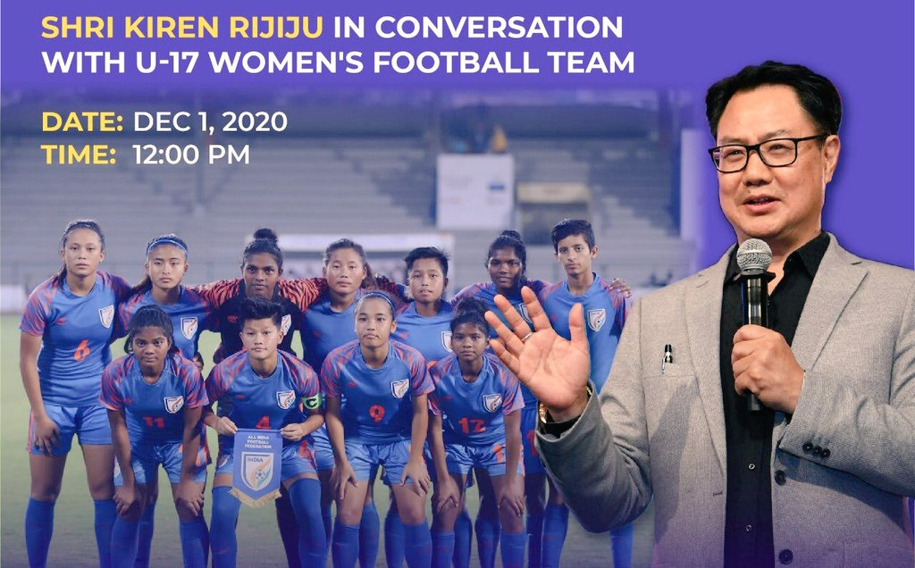 FIFA Under-17 Women's World Cup India 2020 got canceled due to pandemic. Some of our talented young footballers will not be eligible to play in 2022 due to age factor. But they will continue to play for India in senior segments. I'm looking forward to interact with the girls ⚽️