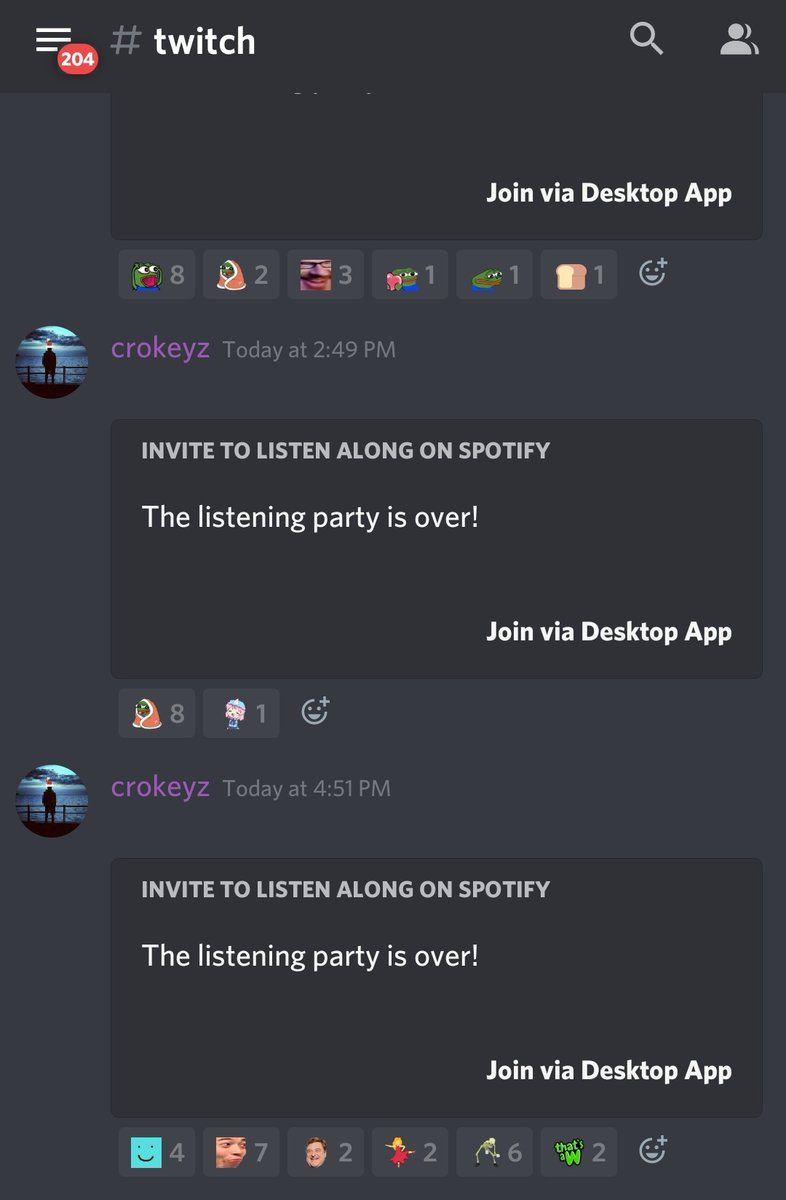 crokeyz - Music is back on the stream!  If you have Spotify Premium, you can join in to what I am listening to via Discord.  1. Join   2. Announcements tab 3. #twitch channel 4. Click join on the most recent invite  There will be a fresh invite posted each stream.