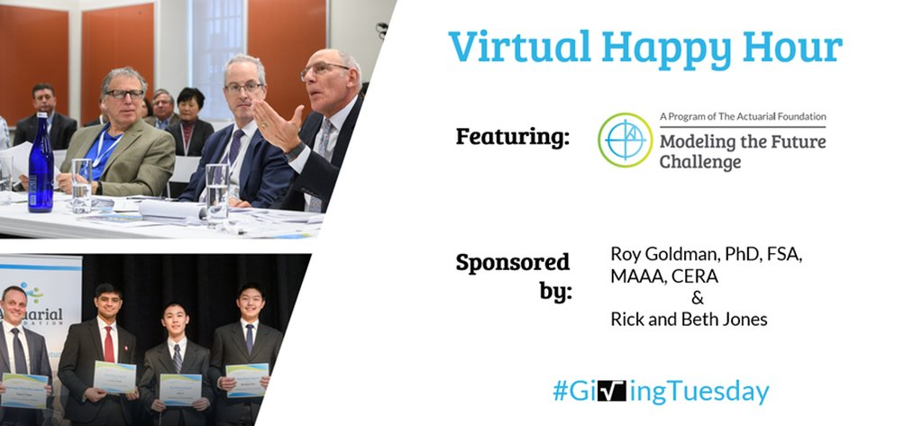 Every year, #GivingTuesday is a time for giving back to the communities and people we serve. Join us tomorrow at 4 p.m. CT for a Back to School Virtual Happy Hour to learn about our national high school math competition, the Modeling the Future Challenge.