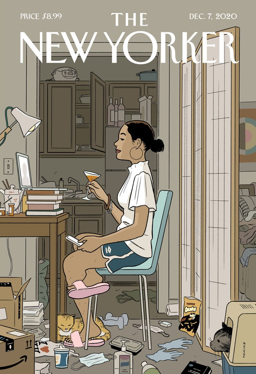 "Spot the Hilma af Klint print peeking out from the background of Adrian Tomine's wonderful @NewYorker cover ""Love Life"". And watch our Hilma doc here:"
