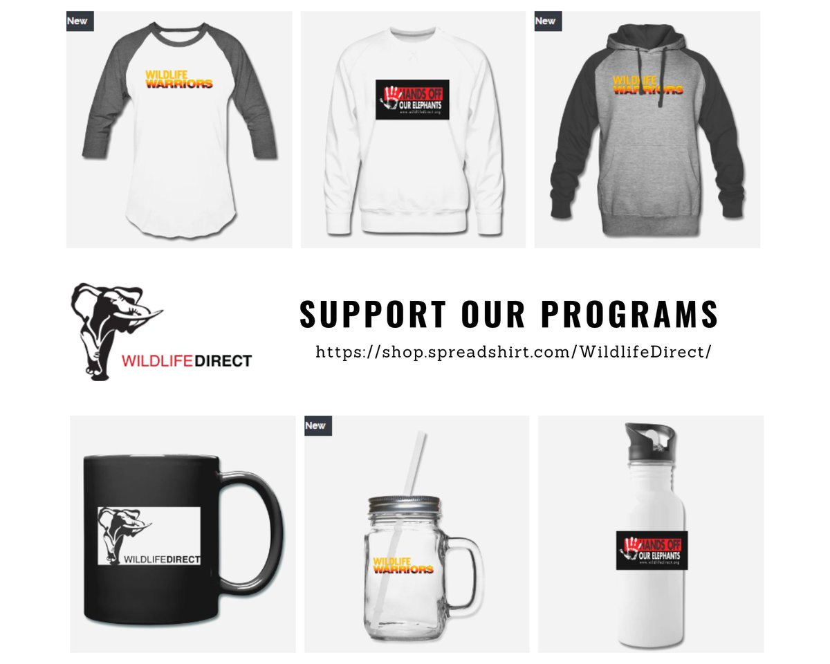 A gift today can change the future of #wildlife tomorrow. But did you know that you can also shop to support us?  Get #WildlifeWarriors, #WildlifeDirect & #HandsOffOurElephants  merchandise here👉. #CyberMonday #GivingTuesday #GivingTuesdayKe
