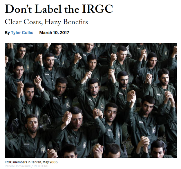 """23) NIAC continued pushing this policy in 2017 as reports began circulating of the Trump admin possibly designating the IRGC. """"Don't Label the IRGC,"""" originally on Foreign Affairs foreignaffairs.com/articles/unite… Syndicated on the same day on NIAC's website niacouncil.org/news/dont-labe…"""