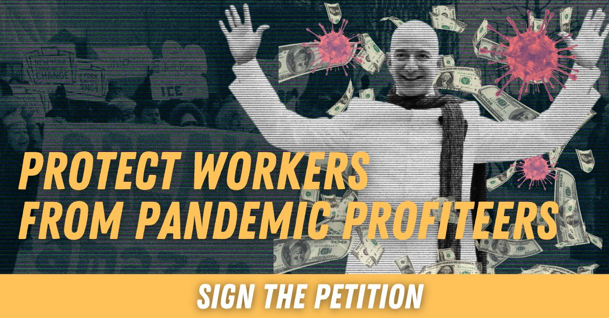 On Cyber Monday, stand up to Pandemic Profiteers who made billions but failed to protect workers! State leaders must #protectNYHeroes and pass the NY HERO Act. Sign the petition: bit.ly/nyhero20