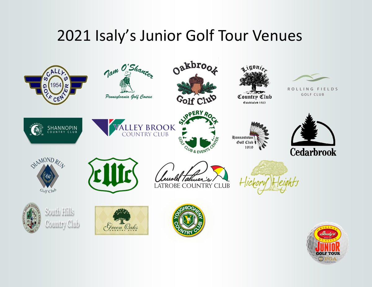 Some great venues for our #isalysnationjuniorgolftour