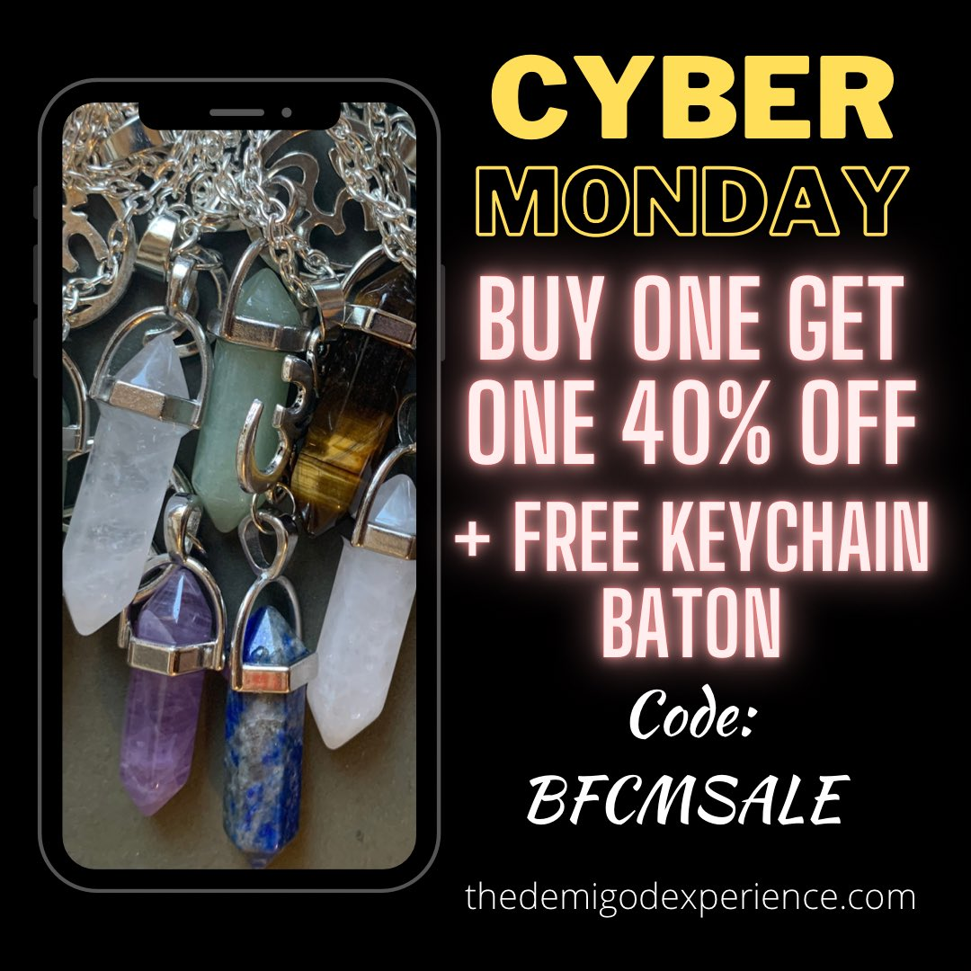 All self-defense weapons, spiritual tools, & skincare products are on sale for Cyber Monday‼️  BOGO 40% Off (use code BFCMSALE) First 20 orders will receive a free baton 💪🏽   #cybermonday #cybermondaysale #buyblack #blackownedbusiness #smallbusiness