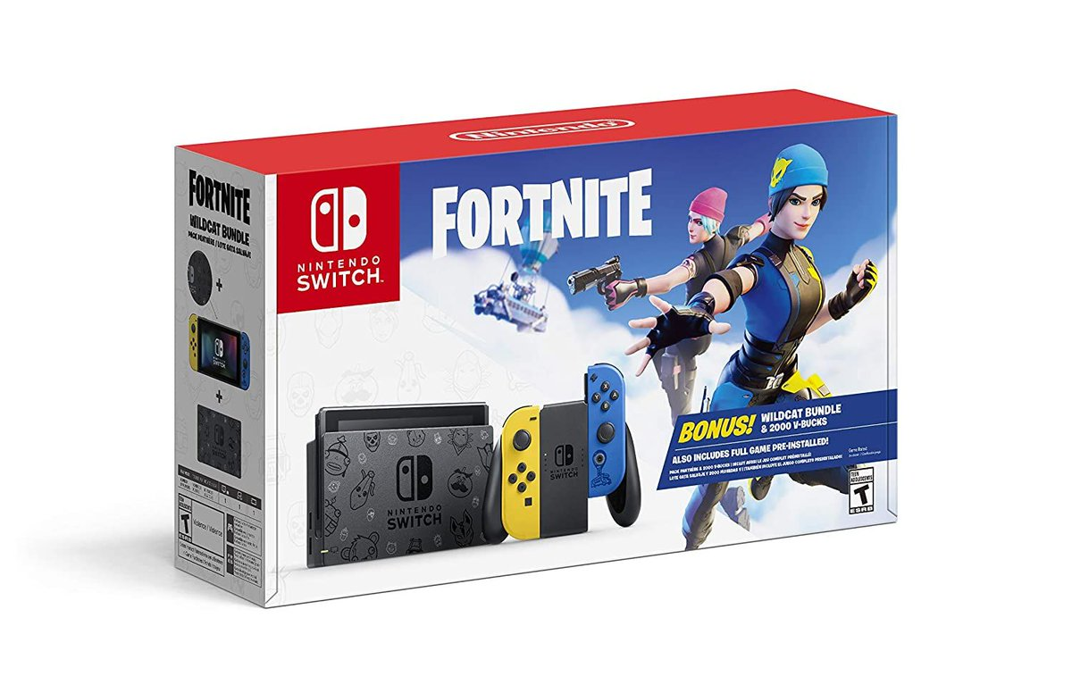 Nintendo Switch Fortnite Wildcat Bundle available for retail $299   Click here to order