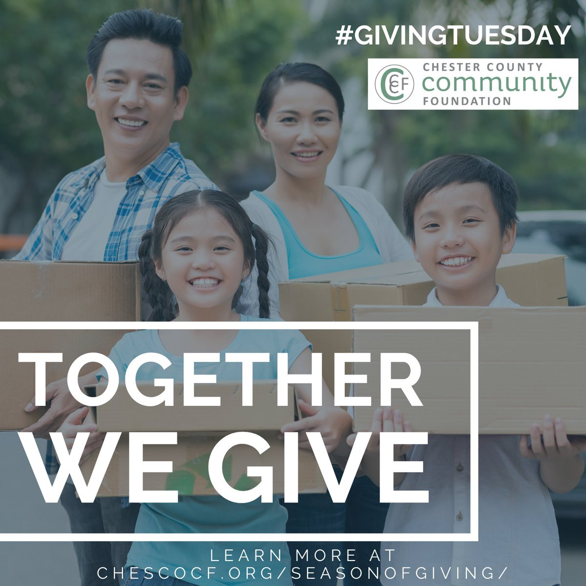 Tomorrow is #GivingTuesday! GivingTuesday is a global generosity movement unleashing the power of people and organizations to transform their communities and the world. How can you get involved? Go to https://t.co/jR0EkHcmxz today.   #seasonofgiving #giveyourlegacy #chesco #CCCF https://t.co/RtocLWDO43