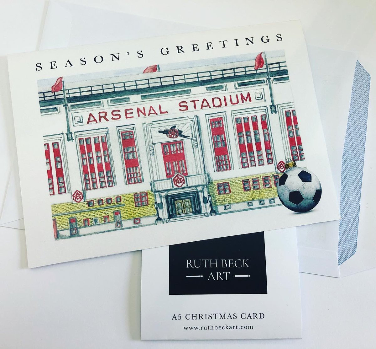 A5 @Arsenal  Christmas cards on my Etsy Shop :    £3.75 each with free P&P to UK. 🔴⚪️  ©️    #ChristmasIsComing #arsenal #AFC #xmas2020 #cards #Christmas #etsy #etsyhandmade #COYG #ChristmasWeLove #sale #BlackFriday2020