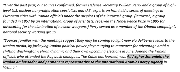 30) January 30, 2009: Revealed: Recent U.S.-Iran nuclear talks involved key officials (UPDATED) foreignpolicy.com/2009/01/30/rev…