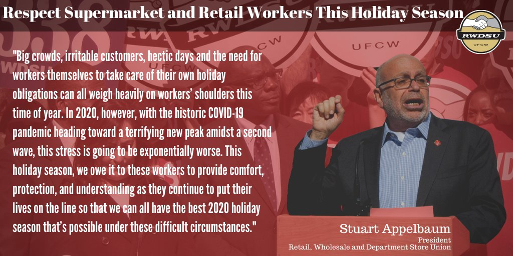 Even in the best of times, the holiday season is very stressful for workers. Amidst a dangerous second wave of the pandemic, @sappelbaum urges employers and customers alike to respect our retail and supermarket workers. #1u Read more in @NYAmNews: amsterdamnews.com/news/2020/nov/…