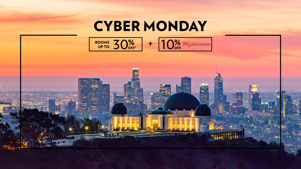 Cyber Monday is almost over, you don't want to miss out 🎉 Whether it's a staycay or a family getaway, plan ahead and enjoy 30% off room rates 🤩 My Millennium Members also get an additional 10% off and Triple My Points too! Book now to save: https://t.co/cnfIUBLKL8 https://t.co/gTe1rF0YQ3