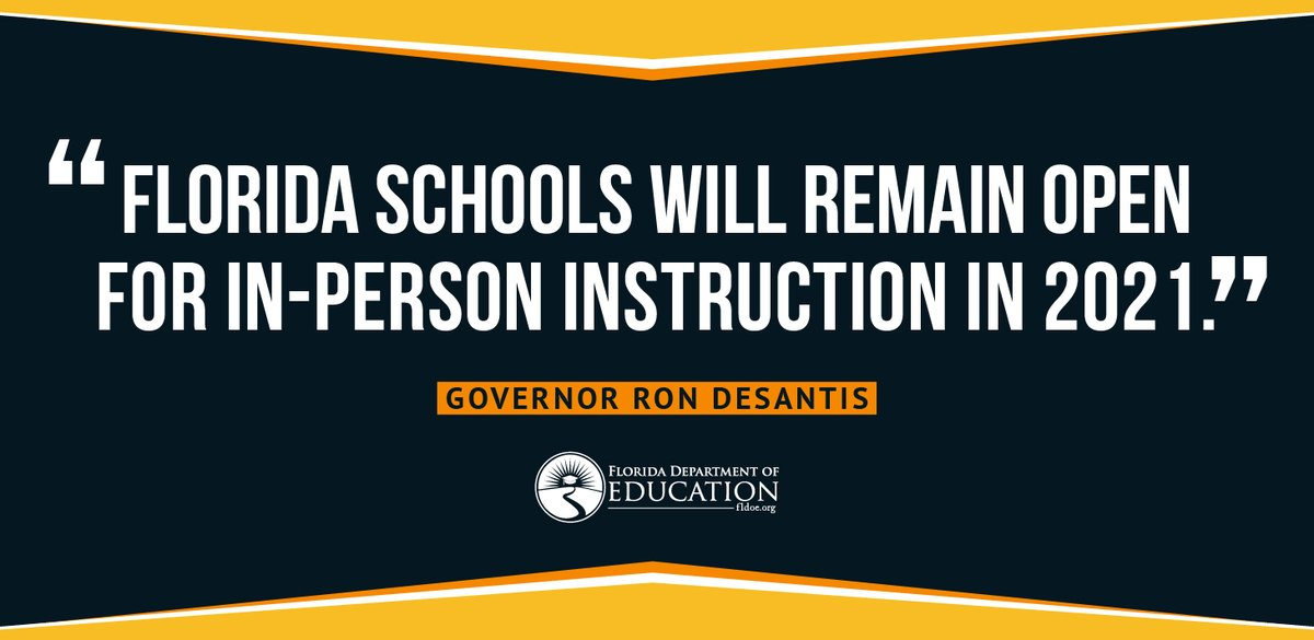 Florida continues to lead the way in providing parents and students with high-quality options while ensuring that our state responds with urgency to support our most vulnerable learners.  EO-07 supports choice while focusing on closing gaps.  @EducationFL https://t.co/PH2HuUQUni