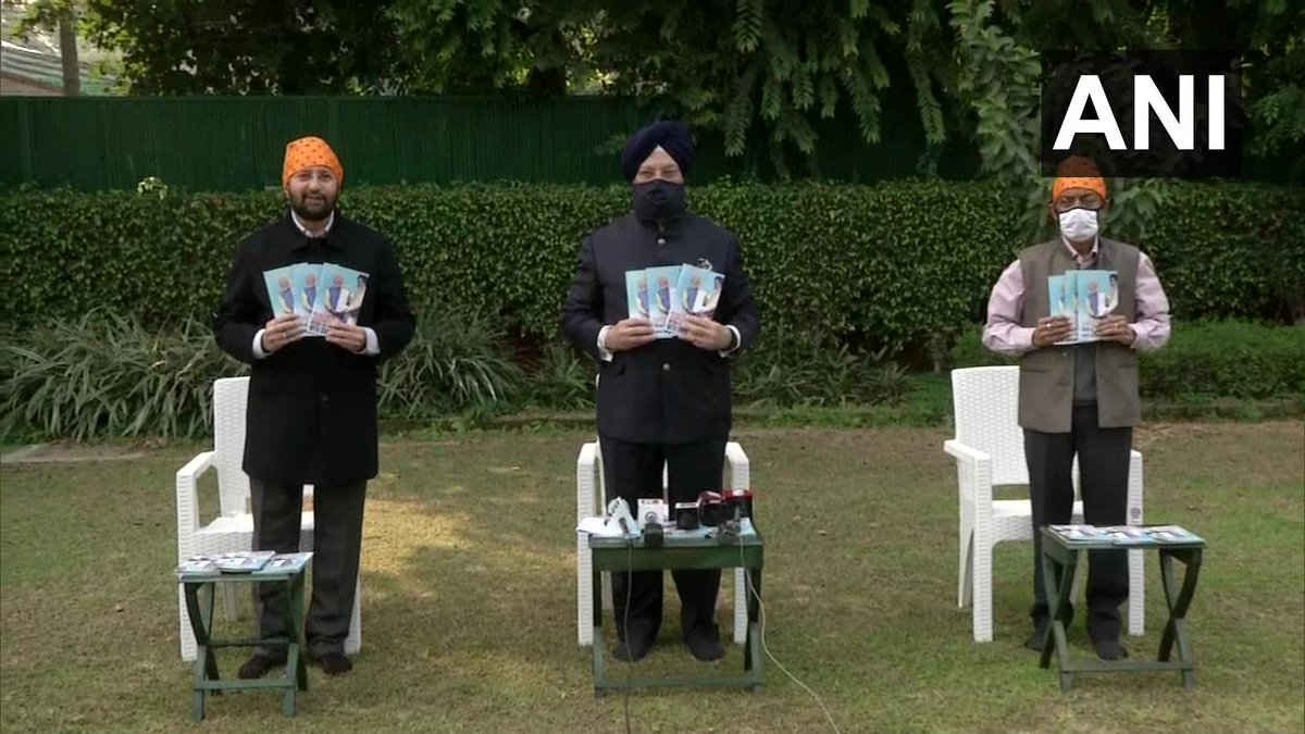 Delhi: Union Ministers Prakash Javadekar and Hardeep Singh Puri released a booklet 'PM Modi & his Government's special relationship with Sikhs' earlier today.  #GuruNanakJayanti https://t.co/EPDMxnOKVN