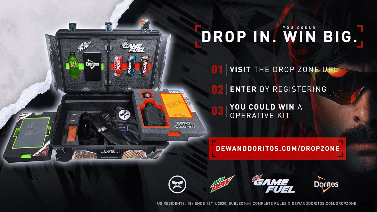 DrDisrespect - Just got off the Flip Phone with @GameFuel.  We're giving away everything you need to perform like a Champion.  Enter here:  #GameFuelPartner