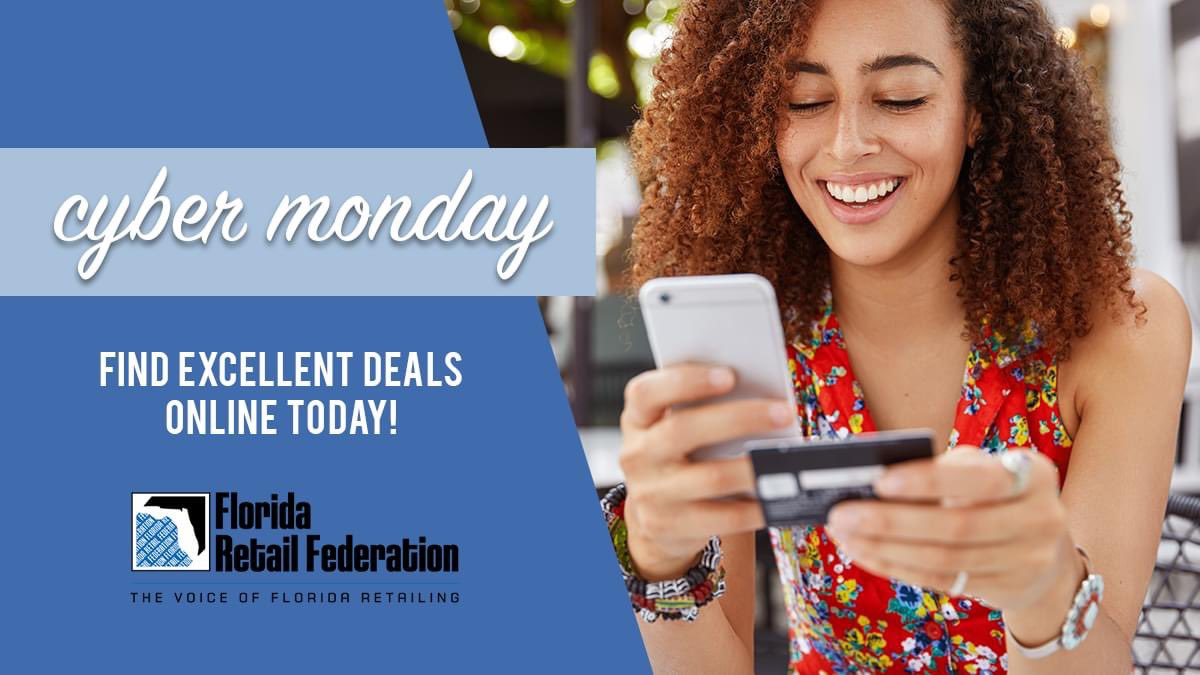 If the #COVID19 pandemic has your Thanksgiving holiday looking a little different, never fear! #CyberMonday deals are just a click or a touch away.  Safely take advantage of all online sales from the comfort of home. #FindItInFlorida #FloridaRetail