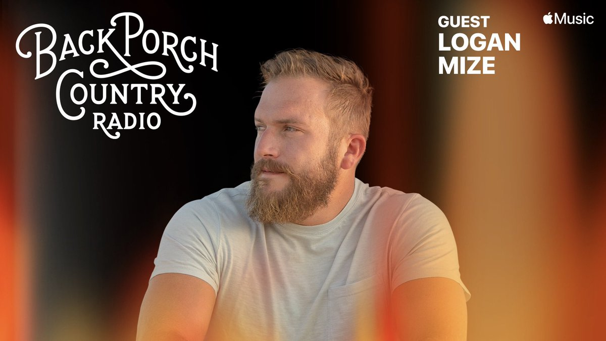 A couple things...1) Back Porch Country @applemusic has a NEW TIME!!! M-Th 8pm (CST) / 9EST/ 6PST.  2) Pumped to have @Loganmize on the porch this week! 👏🏻🎶 #backporchcountry  #countrymusic