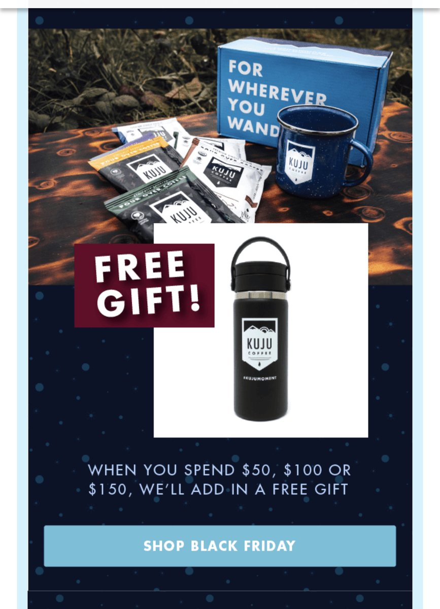 Last Day to get your FREE Gift!  #Blackfriday #cybermonday #GWP #coffee #kujucoffee #pourover #pourovercoffee #kujumoment #forhwhereveryouwander https://t.co/QLyePMOQAy