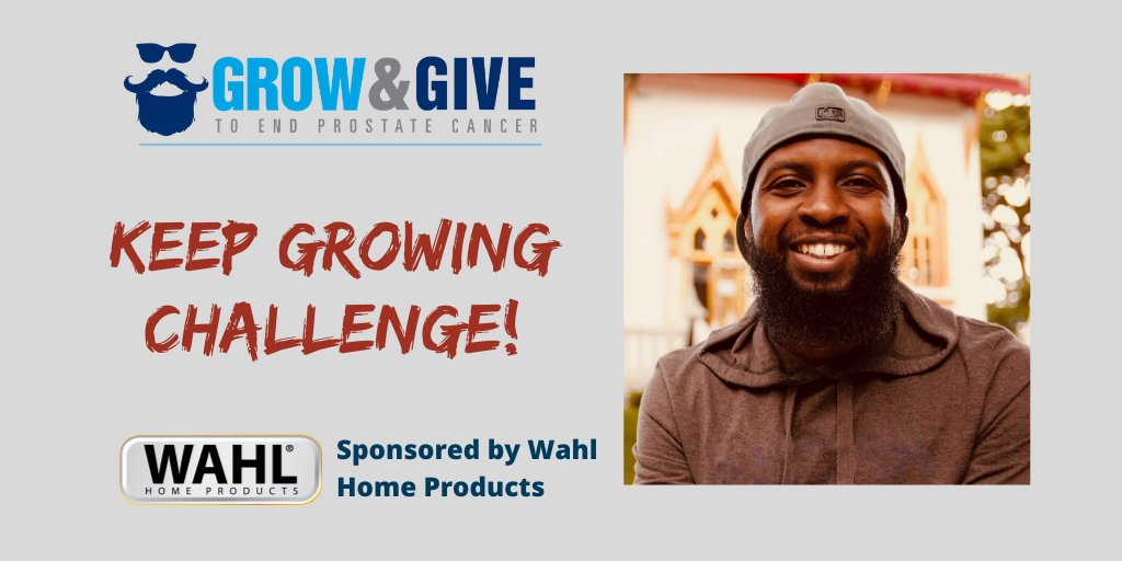 Keep calm & keep on growing! There's 1 final #GrowandGive fundraising contest. The KEEP GROWING challenge awards the top fundraisers who collect the most donations the 1st week of December. Keep on growing those beards! #ZEROstrong #GivingTuesday