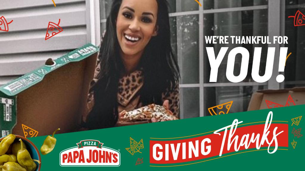 It's the thanks that count! Is there anybody you still need to thank this month? Tell us about 'em below and we'll try to send a free pizza to their door!