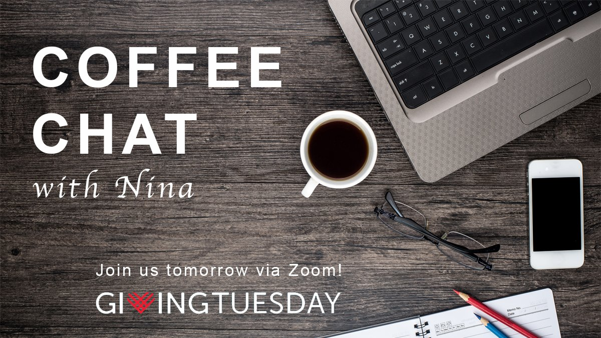 Grab your favorite mug tomorrow and join us on #GivingTuesday for a chat with President & CEO of Peace and Hope International, Nina Balmaceda.   Learn more about the important work by latin@ Paz y Esperanza leaders & teams through the #COVID19 pandemic and economic crisis.