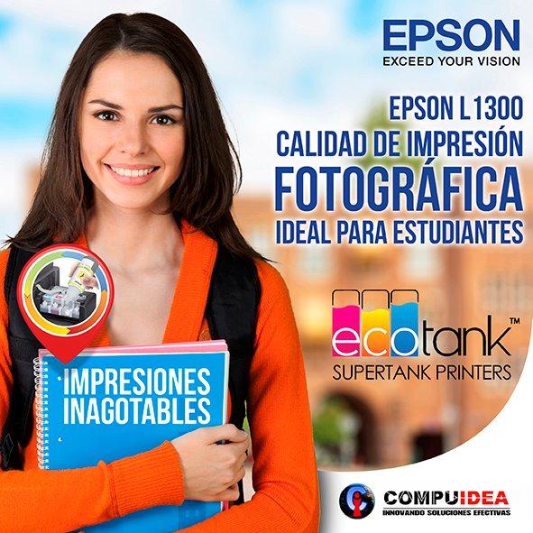 Epson L1300 precios y detalles en -->  , impresora de formato A3+ impresora full color con sistema de tinta continua original cotízala al 0984140785 #epson #sublimacion #tintacontinua #ecotank #distribuidoresoficiales
