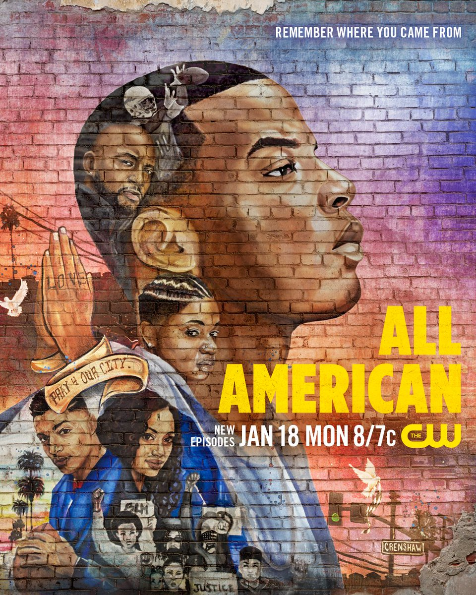 Remember where you came from. Season 3 premieres Monday, January 18 on The CW! #AllAmerican   Artist: Keenan Chapman
