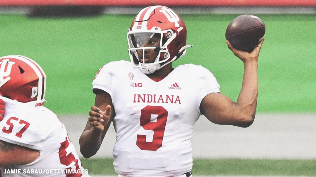 Indiana QB Michael Penix Jr. will miss the rest of this season with a torn ACL, coach Tom Allen announced.