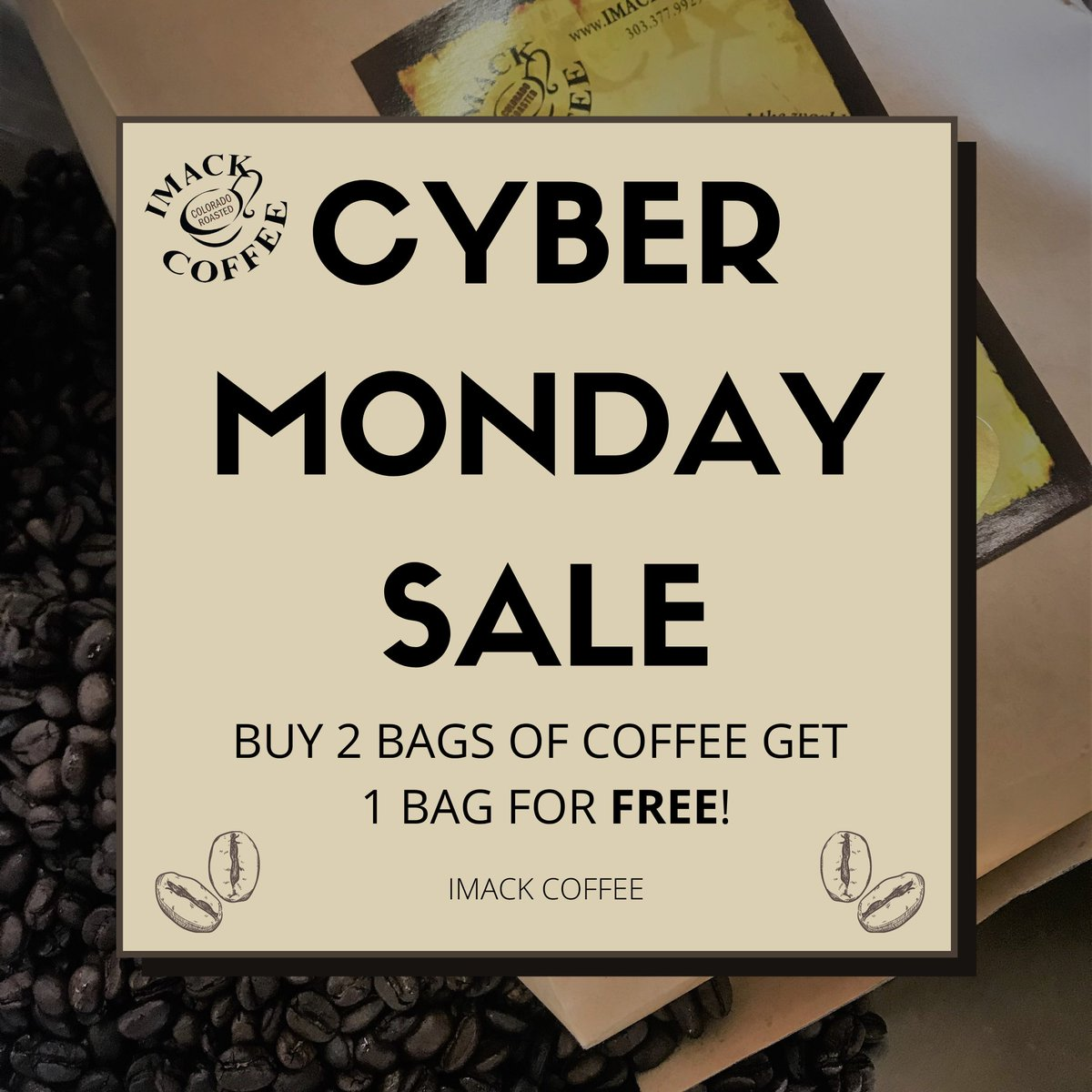 DON'T MISS OUT!!! Who doesn't love a free bag of coffee☕️😋  #coffee #coffeelover #coffeeshop #coffeetime #coffeeaddict #coffeeholic #denver #denvercolorado #denvercoffeescene #coloradocoffeeroaster #coloradocoffee #cybermonday #cybermonday2020 #cybermondaysale #sale #free